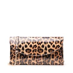 Pochette leopard in vernice, Borse, 145122502VELEOPUNI, 001a