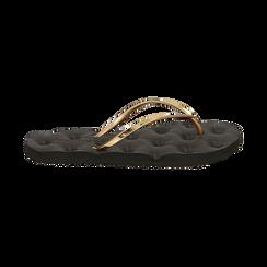 Ciabatte infradito oro in pvc, Zapatos, 15J370785PVOROG036, 001 preview