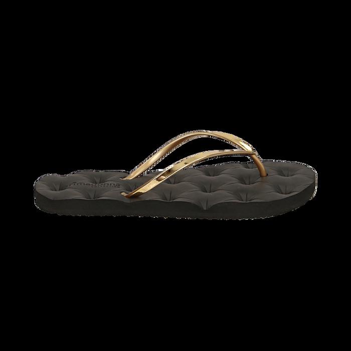 Ciabatte infradito oro in pvc, Zapatos, 15J370785PVOROG036