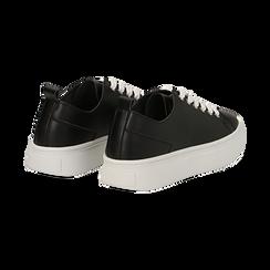 Sneakers nere in eco-pelle, Scarpe, 132500778EPNERO036, 004 preview