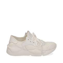 Dad shoes bianche in tessuto tecnico , Sneakers, 15F609059TSBIAN035, 001a
