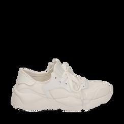 Dad shoes en tejido tecnico color blanco, Zapatos, 15F609059TSBIAN035, 001a