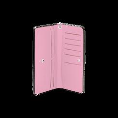 Portafoglio rosa in eco-pelle con laccetto per il polso, Borse, 133723651EPROSAUNI, 003 preview