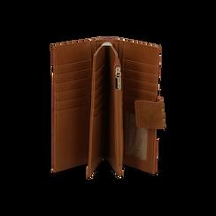 Portafogli marrone in microfibra con 25 vani , Borse, 133322158MFMARRUNI, 003 preview