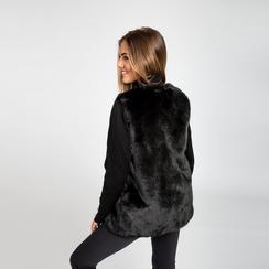 Smanicato eco-fur nero, Abbigliamento, 12B400303FUNERO, 004 preview