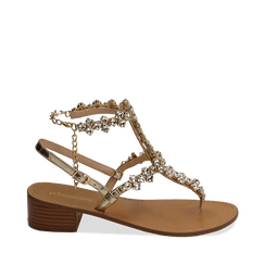 WOMEN SHOES SANDAL LAMINATED OROG, Chaussures, 154989170LMOROG035, 001a