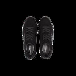Sneakers nere suola platform multistrato, Scarpe, 122818575MFNERO, 004 preview
