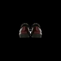 Mocassini stile British bordeaux in vernice con tacco basso, Scarpe, 120618122VEBORD, 003 preview