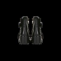 Biker neri con doppia fibbia, Scarpe, 122808642EPNERO, 003 preview