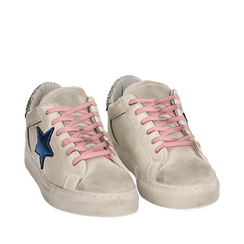 Sneakers bianche con stella , Chaussures, 15F999101EPBIAN035, 002a