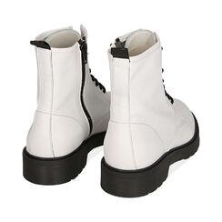 Botas Militares de piel blanco, Primadonna, 17B810831PEBIAN035, 004 preview