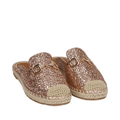 Slippers oro rosa glitter, Chaussures, 154951159GLRAOR036, 002a