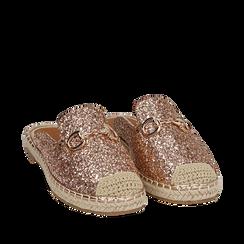Slippers oro rosa glitter, Primadonna, 154951159GLRAOR035, 002a