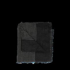 Pashmina nera in tessuto , Abbigliamento, 14B404024TSNERO3XL, 001a