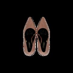 Décolleté rosa nude con punta affusolata, tacco stiletto 7,5 cm, Scarpe, 122182083MFNUDE, 004 preview