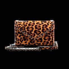 Borsa a tracolla leopard in microfibra, Borse, 123386501MFLEOPUNI, 001 preview