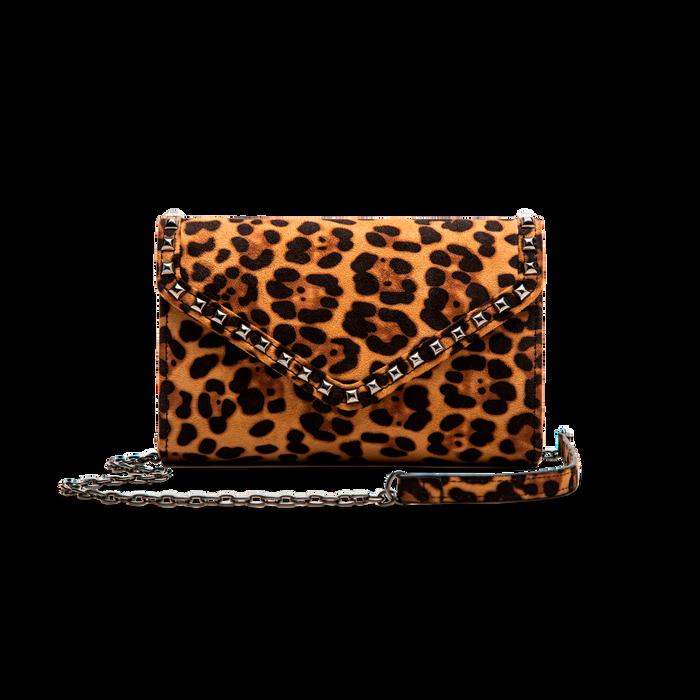 Borsa a tracolla leopard in microfibra, Borse, 123386501MFLEOPUNI