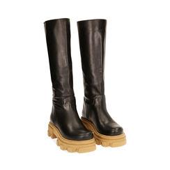 Botas de piel en negro, tacón 4 cm, Primadonna, 17L666810VINERO036, 002 preview