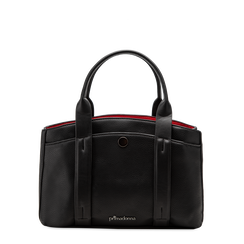 Mini bag nero-rossa in ecopelle, Saldi Borse, 122323219EPNERSUNI, 001a