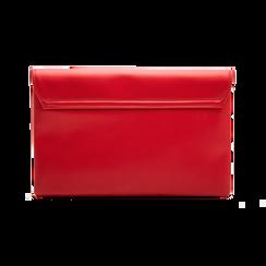 Pochette bustina rossa in ecopelle con oblò dorati, Borse, 123308604EPROSSUNI, 002 preview