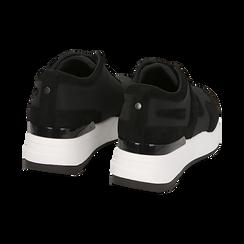 Sneakers nere in tessuto tecnico, suola 5,50 cm , Scarpe, 142898983TSNERO039, 004 preview
