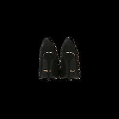 Décolleté nere con punta affusolata, tacco stiletto 11 cm, Scarpe, 122146861MFNERO, 003 preview