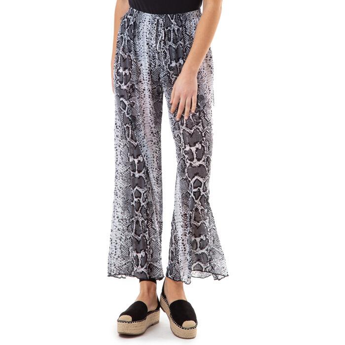 Pantaloni bianco/neri stampa rettile, Primadonna, 17L571059TSBINEUNI