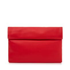 Bustina rossa in eco-pelle, ripiegata su sè stessa, Borse, 113308590EPROSSUNI, 001a