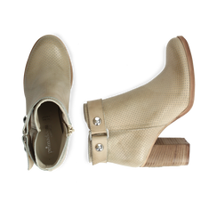 Ankle boots beige in vitello , Scarpe, 138900604VIBEIG036, 003 preview
