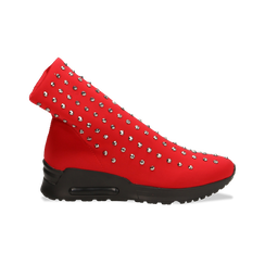 Sneakers rosse slip-on in lycra con cristalli, Primadonna, 122808611LYROSS037, 001 preview