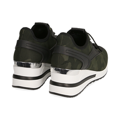 Sneakers en tejido con cuña color camuflaje, Primadonna, 152803421TSMILI037, 004 preview