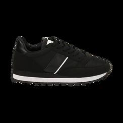Sneakers nere in tessuto tecnico , Scarpe, 142619079TSNERO036, 001 preview