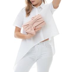 Pochette rosa nude in microfibra con fiocco, Borse, 132300508MFNUDEUNI, 002 preview