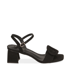 CALZATURA SANDALO MICROFIBRA NERO, Chaussures, 159797004MFNERO036, 001a