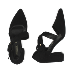 Décolleté noir en microfibre, talon 8 cm , Primadonna, 164949241MFNERO035, 003 preview