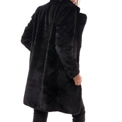 Eco-Pelliccia nera, Abbigliamento, 14B443004FUNERO3XL, 002a