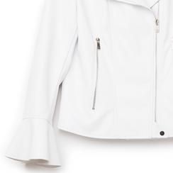Biker jacket bianca in eco-pelle, con maniche scampanate, Primadonna, 136501875EPBIANL, 002 preview