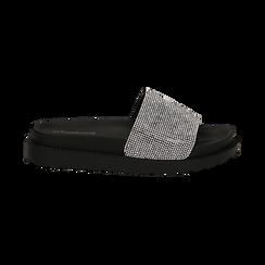 Zeppe da mare nere in pvc con strass, Scarpe, 134700045PVNERO035, 001 preview