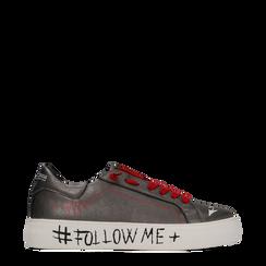 Sneakers canna di fucile con suola #followme, Scarpe, 122619062EPCANN037, 001a