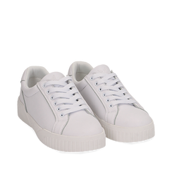 Sneakers en eco-piel color blanco, 150620171EPBIAN035, 002a