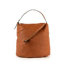 Maxi-bag  cuoio in eco-pelle, Primadonna, 151990171EPCUOIUNI, 001a