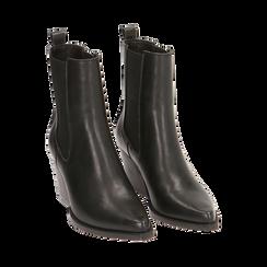 Camperas negras, tacón 7 cm, Zapatos, 170508001EPNERO035, 002 preview