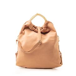 Maxi-bag nude in microfibra , Borse, 132403282MFNUDEUNI, 001a
