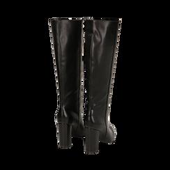 Stivali neri, tacco 9,50 cm , Primadonna, 163026501EPNERO035, 003 preview