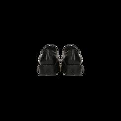 Francesine stringate nera con mini-borchie e lavorazione Duilio, Primadonna, 120682916EPNERO, 003 preview
