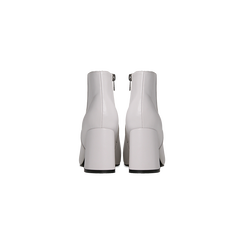 Tronchetti bianchi, tacco 7,5 cm, Scarpe, 122182021EPBIAN, 003 preview