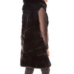 Gilet éco-fourrure noir, Primadonna, 18B420543FUNEROM, 002a