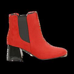Tronchetti rossi con tacco scultura laccato 6 cm, Primadonna, 122707127MFROSS036, 001 preview