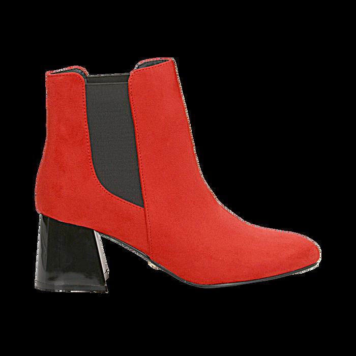 Tronchetti rossi con tacco scultura laccato 6 cm, Primadonna, 122707127MFROSS036