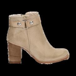 Ankle boots beige in vitello , Scarpe, 138900604VIBEIG036, 001 preview
